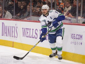 Chris Tanev won't be wearing Vancouver Canucks colours next season. He jumped to the Calgary Flames as a free agent on Friday.