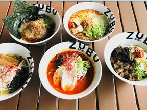 There are multiple choices of ramen from Zubu. Photo by Mia Stainsby.