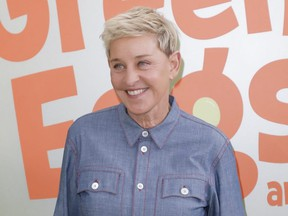 "Ellen DeGeneres attends the premiere of Netflix's ""Green Eggs And Ham"" at Hollywood American Legion in Los Angeles, Nov. 3, 2019."
