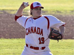 Amanda Asay, 32, a 15-year veteran of the Canadian women's baseball team, is one of the guest speakers at a Baseball B.C. online conference for girls baseball on Friday.