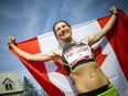 Dayna Pidhoresky, pictured after a marathon victory in 2017, qualified for the next Summer Olympics in Tokyo by winning the Scotiabank Toronto Waterfront Marathon last year in a Games qualifying time.