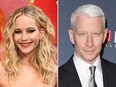 Jennifer Lawrence and Anderson Cooper.