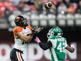 B.C. Lions' receiver Bryan Burnham, left, has been named to the CFL's All-Decade second team. He's planning on catching many more passes during the 2021 season — hopefully in front of fans.