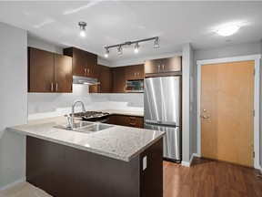 This one-bedroom Coquitlam condo recently sold for $470,000 after seven days on the market.