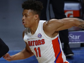 Florida Gators forward Keyontae Johnson is pictured during the first half of the game against the Stetson Hatters at Billy Donovan Court at Exactech Arena in Gainsville, Fla., Dec. 6, 2020.
