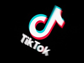 In this file photo taken Nov. 21, 2019, the logo of social media video sharing app Tiktok is displayed on a tablet screen in Paris.