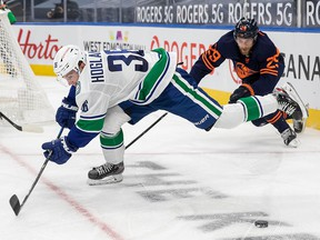When Nils Höglander and the Canucks faced Leon Draisatl and the Oilers in Edmonton on Thursday night, the Sportsnet broadcast team back in Vancouver were behind the action on audio due to technical issues.