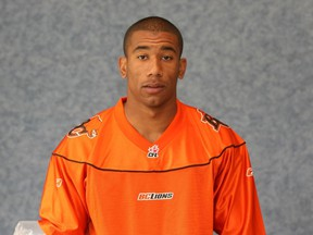 Josh Boden in a B.C. Lions players photo in 2007.