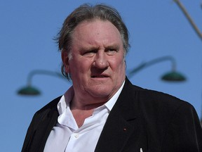 In this file photo taken on September 5, 2017, French actor Gerard Depardieu arrives at the 74th Venice Film Festival at Venice Lido.