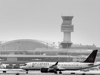 An Air Canada flight maneuvers on the taxiways at Toronto Pearson International Airport on December 1, 2020.