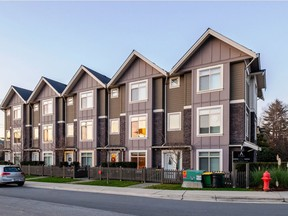 A three-bedroom, four-bathroom townhouse in Port Coquitlam's Parkcrest complex has sold for $786,000.