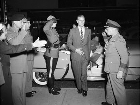 August 1954 - Prince Philip, the Duke of Edinburgh, arrives in Vancouver for the British Empire Games