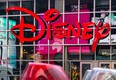 The logo of a Disney store.