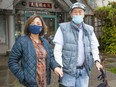 Christina Lam and her father Cheang Che Fu. Fu is one of the 70 elderly seniors at an assisted living home near Chinatown that is suddenly ending its services are scrambling to find accommodation.
