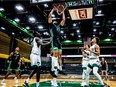 Handout photo of Fardaws Aimaq. The Utah Valley University Wolverines men's basketball team against the Adams State Grizzles at the UCCU Center on the UVU campus in Orem, Utah, on April 21, 2020.