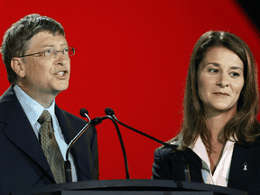 The formerly happy couple, Bill and Melinda Gates at an AIDS conference in Toronto in August 2006.