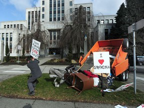 A Strathcona resident became so fed up with the tent city that blighted Strathcona Park on the east side that in February he dumped garbage from the park to make his point in front of historic, art deco style Vancouver City Hall.