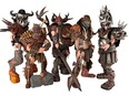 GWAR is a long-running shock rock metal band from outer space featuring, from left, Balsac The Jaws of Death, Jizmak Da Gusha, Blothar, Pustulus Maximus and Beefcake the Mighty.
