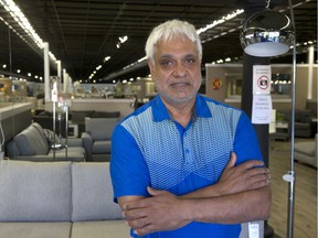 Jeet Jaswal, owner of MJM Furniture stores in Surrey and Coquitlam, in his Surrey store on June 1, 2021. Jaswal and other furniture sellers are being hit with tariffs of nearly 300 per cent. For Joanne Lee-Young story. Trax assignment ID# 00064803A Credit: Mike Bell [PNG Merlin Archive]