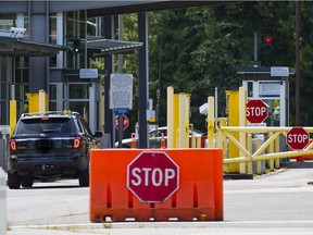 The Point Roberts Canada-U.S. border crossing on June 15.