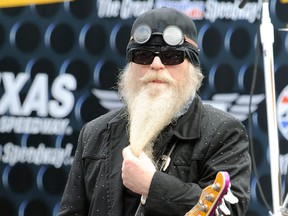 Musician Dusty Hill of ZZ Top performs at the NASCAR Sprint Cup Series Dickies 500 at Texas Motor Speedway on Nov. 8, 2009 in Fort Worth, Texas.