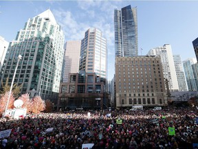 File photo of a rally in Vancouver in October 2019 when 15 young people announced they were suing the government because of the impact climate change is having on their lives. Now a group of international lawyers is advocating for the term ecocide to be made an international crime.