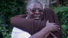 Curtis Crosland is greeted by well-wishers in Philadelphia on June 24, 2021 after being released from prison.
