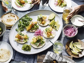 Chef David Robertson's Halibut Fish Tacos with Baja Cream are the perfect centrepiece for a festive family meal or all-ages party.
