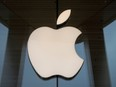 The Apple logo is seen at an Apple Store in Brooklyn, New York, Oct. 23, 2020.