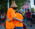 File photo of National Indigenous Day in front of the Vancouver Art Gallery.