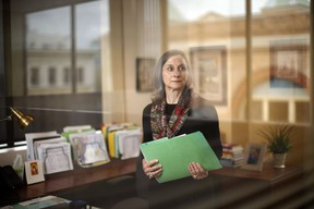 B.C. Chief Coroner Lisa Lapointe at her office in Victoria on Wednesday, Oct 20, 2021.
