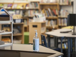Covid-19 precautions at Lord Beaconsfield Elementary School in Vancouver, BC Wednesday, September 1, 2021.
