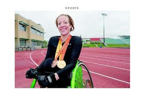 Becky Richter is a multiple medal winner at the Parapan Am Games. She brings home the gold in women's club throw and bronze in women's discus throw.