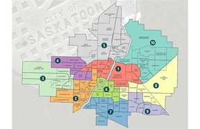 City of Saskatoon   This map shows the ward boundaries used for the 2012 municipal election.