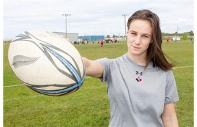 Gillian Allen is about to embark on her second international rugby assignment with Team Canada and first with the senior squad. (LIAM RICHARDS/THE STARPHOENIX)