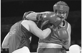Quebec City boxer Ariane Fortin, right, begins her quest for a Pan Am title next week.