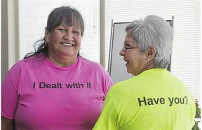 With help from the community and each other, sisters Eva Sinclair, right, and Shirley were treated for hepatitis C.