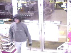 An image from video surveillance shows Allen Donald Jensen in a Saskatoon convenience store he robbed in 2012.