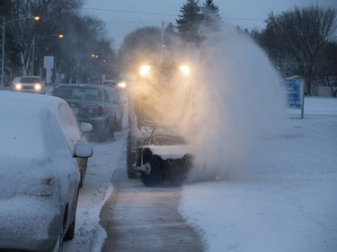 Saskatoon was coated in its' first snowfall of the year following an overnight rain which made roads slippery for motorists and pedestrians, Wednesday, November 18, 2015.