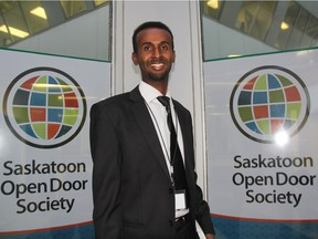 Ali Abukar, executive director of the Saskatoon Open Door Society, can be seen outside the organization's head office on Thursday afternoon. He says his staff are preparing to welcome refugees to the city as soon as this weekend as the Government of Canada says at least 14 refugees are destined for Saskatoon after arriving in Toronto on Dec. 18, 2015.