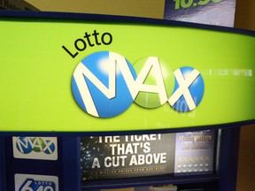 The $60 million grand prize in Friday's Lotto Max drawing was won by a ticket sold somewhere in Saskatchewan, according to the Western Canada Lottery Corporation.