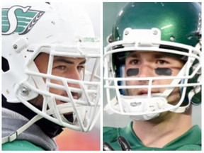 John Chick (left) and Weston Dressler were released by the Saskatchewan Roughriders