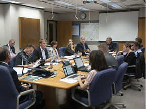 Saskatoon city council meets in the committee room at city hall where most in camera meetings take place in this 2013 file photo.