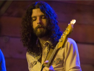 Ryan Gullen, of the Sheepdogs, performs at Village Guitar and Amp on Saturday, February 13th, 2016.