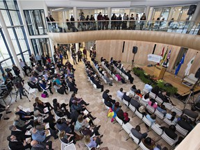 The grand opening celebrations for Gordon Oakes Red Bear Student Centre at the University of Saskatchewan, February 3, 2016.