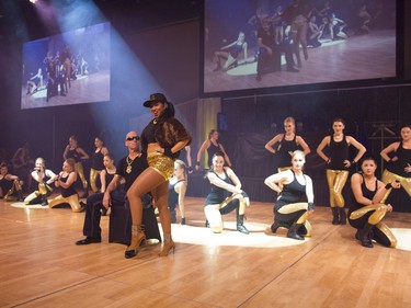 Dancers perform during Swinging with the Stars in Saskatoon, January 30, 2016.
