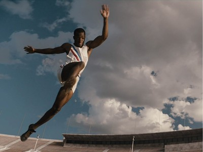 """Stephan James is Jesse Owens in """"Race,"""" an Entertainment One release."""