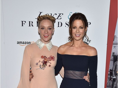 """Actors Chloe Sevigny (L) and Kate Beckinsale attend the """"Love & Friendship"""" New York screening at Landmark Sunshine Cinema on May 10, 2016 in New York City."""