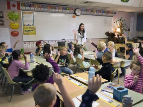 Students can be seen in a classroom in this Saskatoon StarPhoenix file photo.
