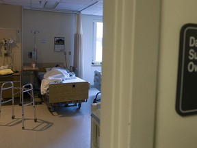 Multi-bed hospital rooms make open visitation policy for patients impractical.